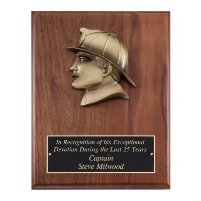 Fireman Head Resin Casting Plaque AT108