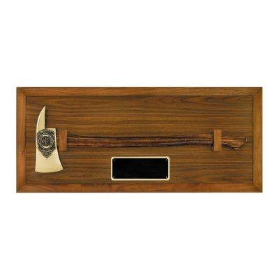 Walnut Fighter Axe Award Display Case AT19