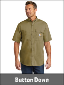Durable Button down uniforms and work shirts