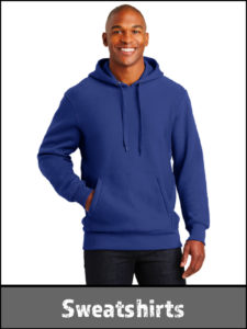 Heavy weight sweatshirts and hoodies for the working person.