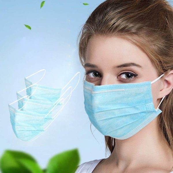 Disposable Face Mask on women model