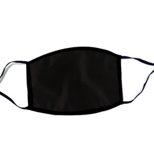 Cotton Mask (2 layer ) With Adjustable Earloop-Black